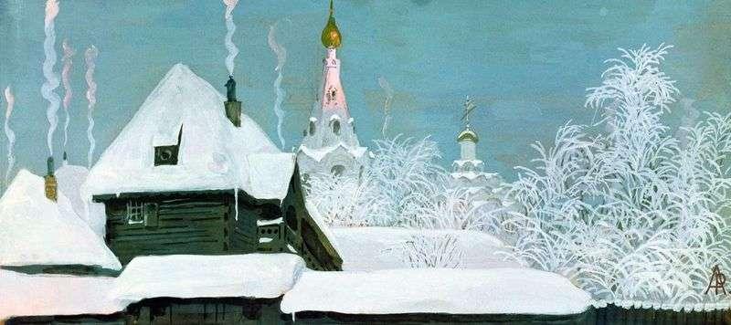 Zimowy poranek   Andrey Ryabushkin