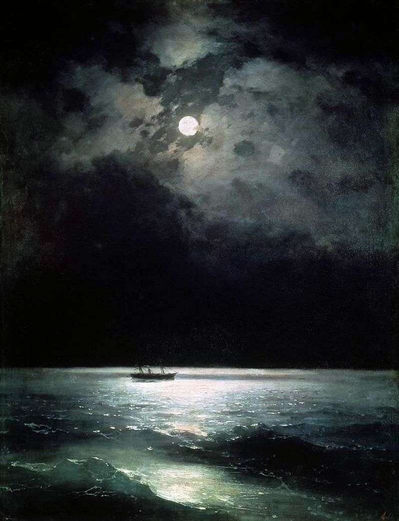 Morze Czarne w nocy   Ivan Aivazovsky