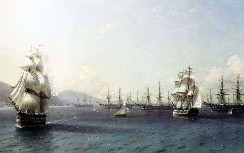 Flota Czarnomorska w Feodozji   Iwan Ajwazowski