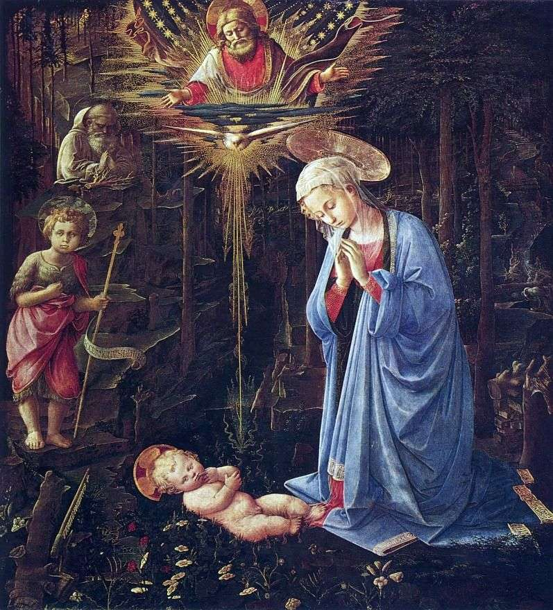Uwielbienie u św. Bernarda i niemowlęcia Jana Chrzciciela   Fra Philippe