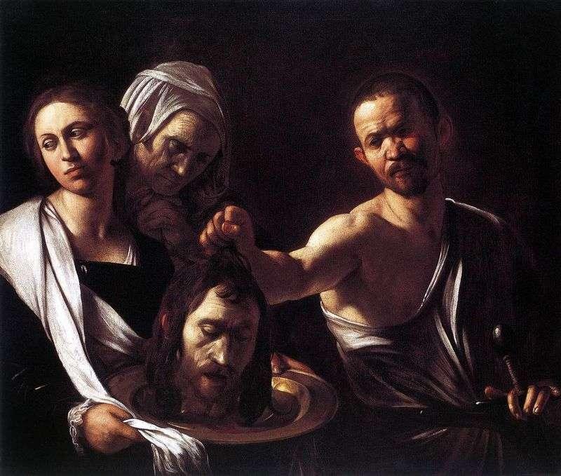 Salome z Głową Jana Chrzciciela   Michelangelo Merisi da Caravaggio