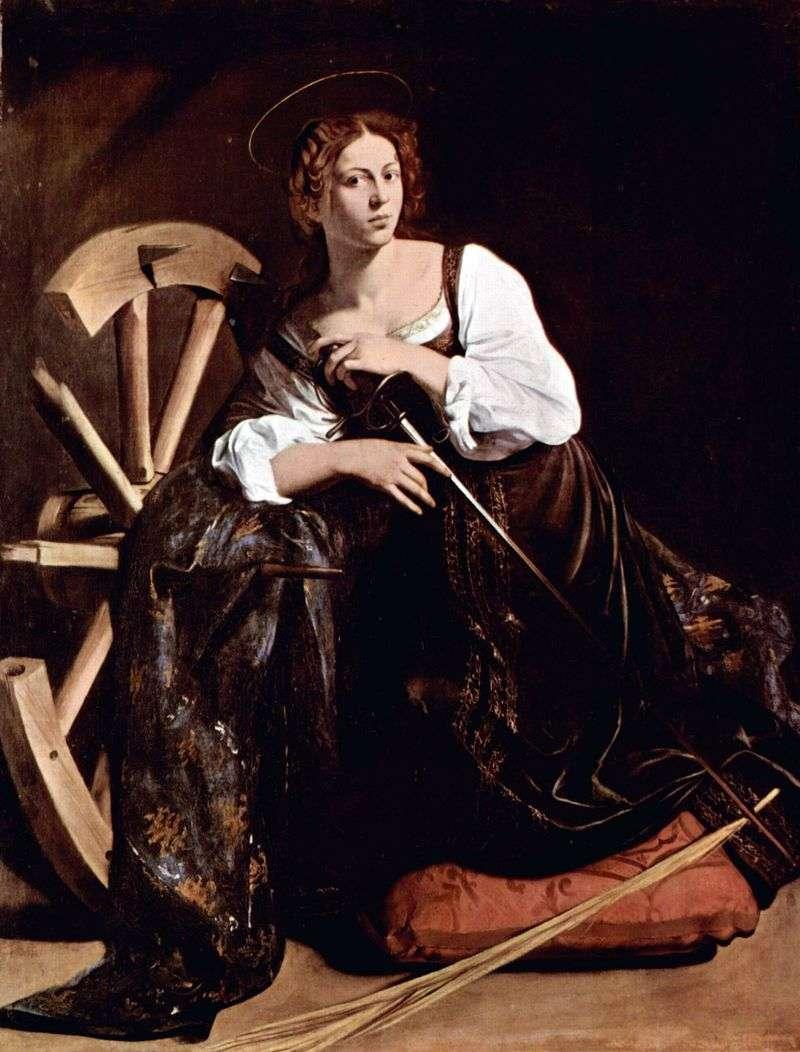Święta Katarzyna z Aleksandrii   Michelangelo Merisi da Caravaggio