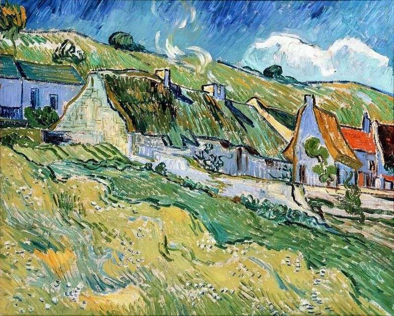 Domy kryte strzechą   Vincent Van Gogh
