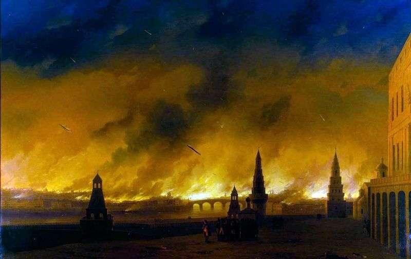 Pożar Moskwy w 1812 roku   Iwan Ajwazowski