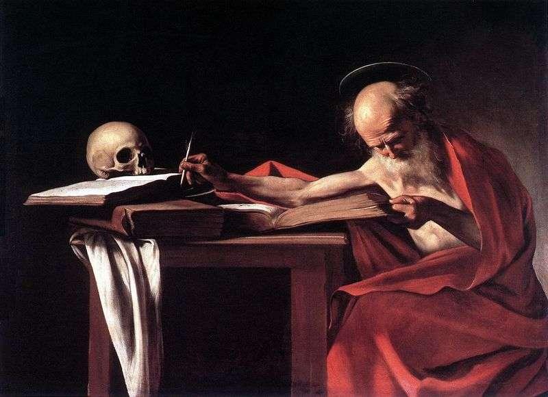 Święty Hieronim w Księdze   Michelangelo Merisi da Caravaggio