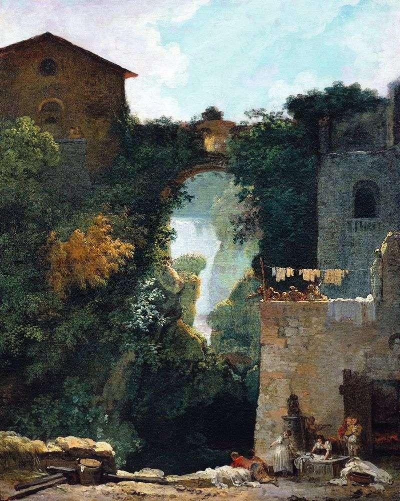Grand Cascade w Tivoli   Jean Honore Fragonard