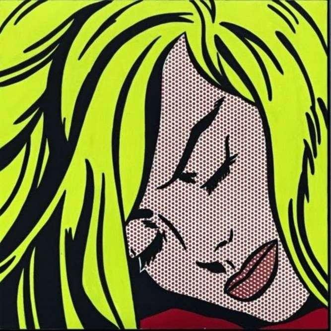 Śpiąca dziewczynka   Roy Lichtenstein