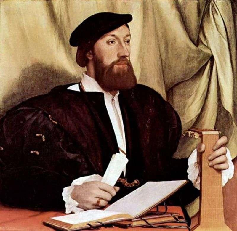 Portret mężczyzny z lutnią   Hans Holbein