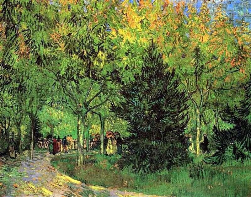 Ścieżka w publicznym ogrodzie w Arles   Vincent Van Gogh
