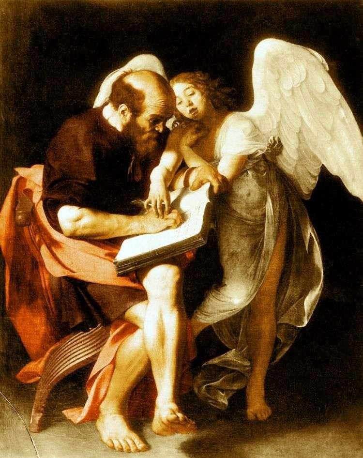 Święty Mateusz i Anioł   Michelangelo Merisi da Caravaggio