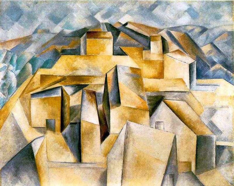 Domy na wzgórzu   Pablo Picasso