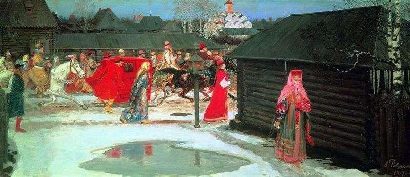 Pociąg weselny w Moskwie (XVII w.)   Andrey Ryabushkin