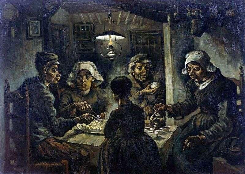 Zjadacze ziemniaków   Vincent Van Gogh