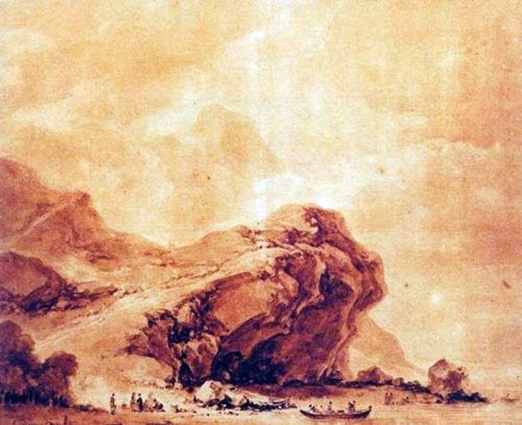 Widok na wybrzeże w pobliżu Genui   Jean Honore Fragonard