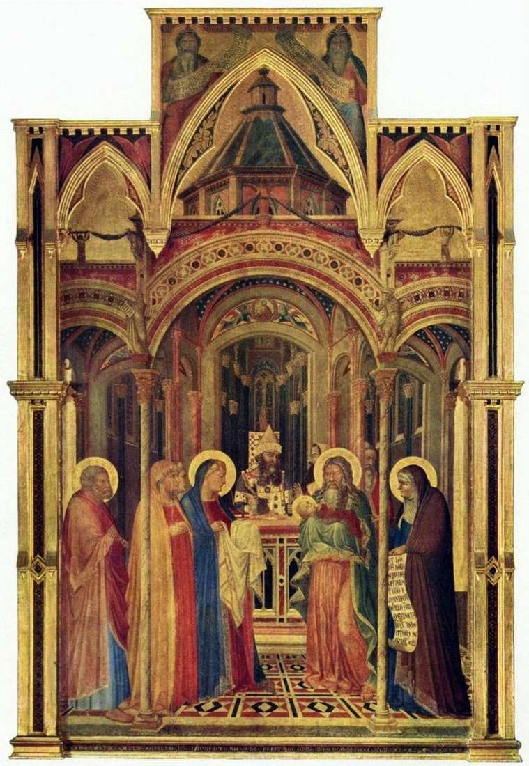 Wnoszenie świątyni   Ambrogio Lorenzetti
