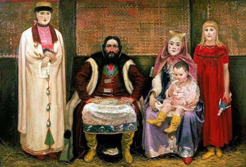 Rodzina kupca w XVII wieku   Andrei Ryabushkin
