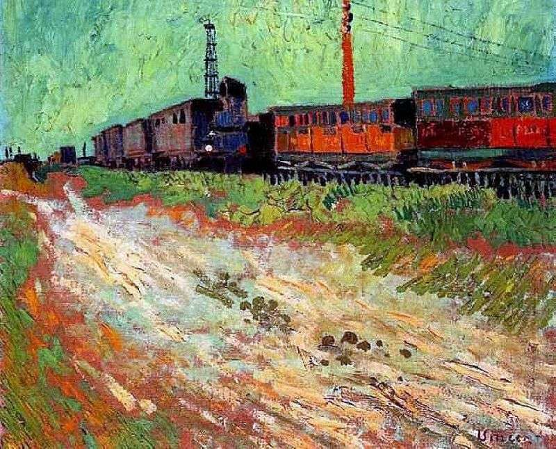 Wagony kolejowe   Vincent Van Gogh