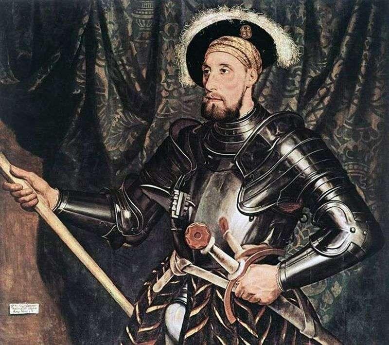 Portret Sir Nicholas Carew   Hans Holbein