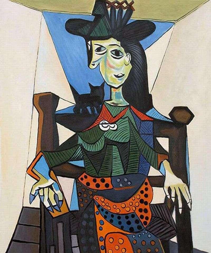 Dora Maar z kotem   Pablo Picasso