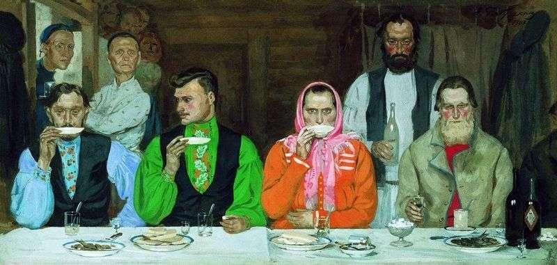 Picie herbaty   Andrey Ryabushkin