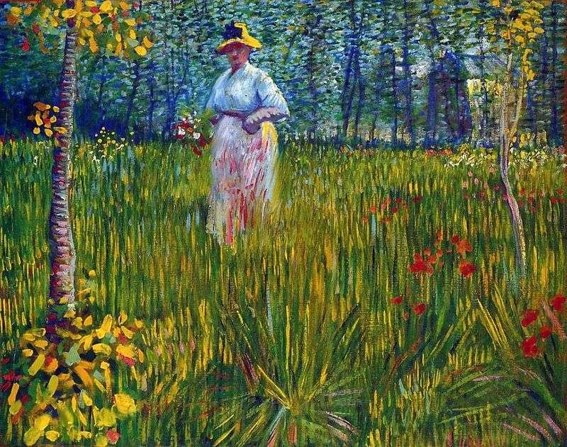 Kobieta w ogrodzie   Vincent Van Gogh