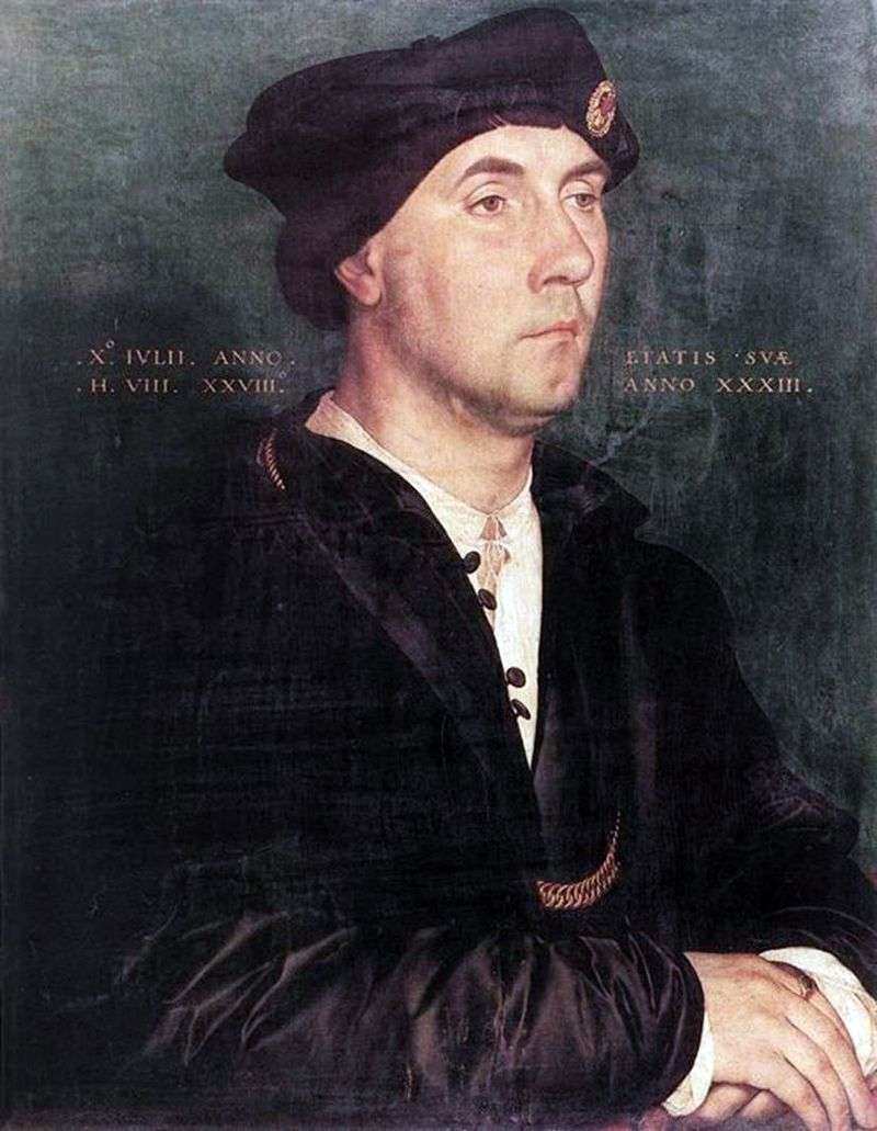 Portret Sir Richarda Southwella   Hansa Holbeina