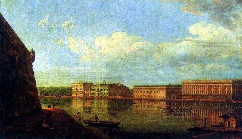 Widok na Nabrzeże Pałacowe z Twierdzy Piotra i Pawła   Fiodor Aleksiejew