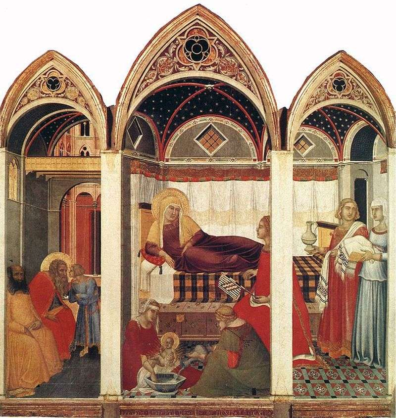 Narodziny Maryi   Pietro Lorenzetti