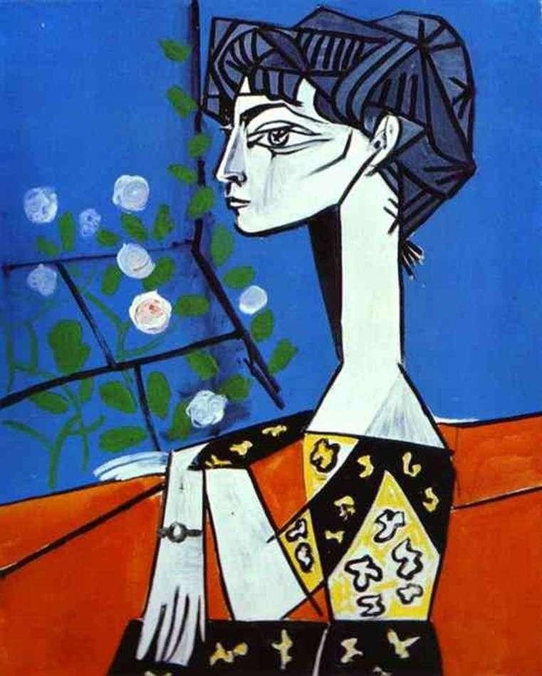 Jacqueline z kwiatami   Pablo Picasso