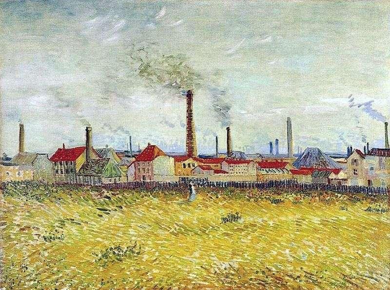 Fabryki w Anyer, widok z peryferii de Clichy   Vincent van Gogh