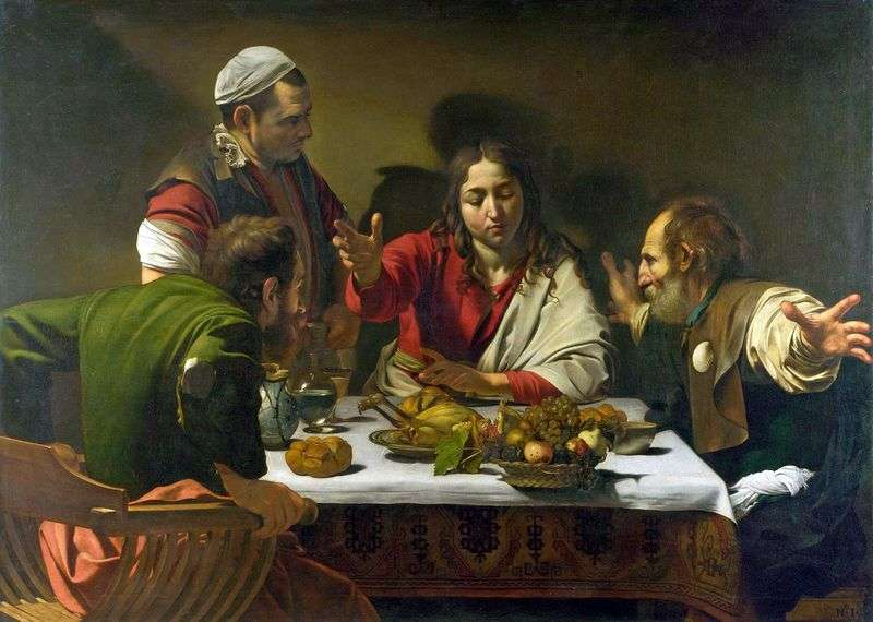 Kolacja w Emmaus   Michelangelo Merisi da Caravaggio