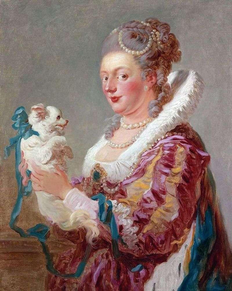 Pani z psem   Jean Honore Fragonard