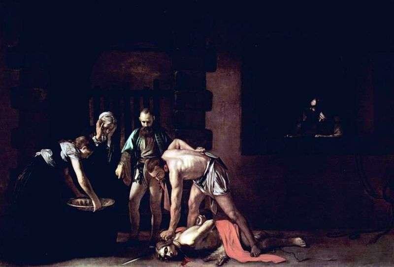 Ścięcie Jana Chrzciciela   Michelangelo Merisi da Caravaggio