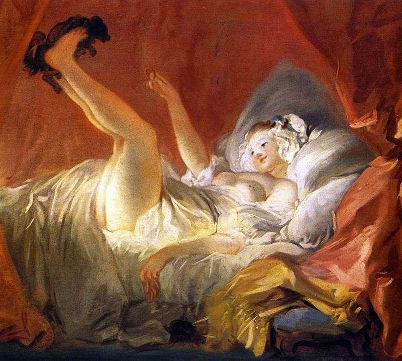 Dziewczyna bawi się z psem   Jean Honore Fragonard