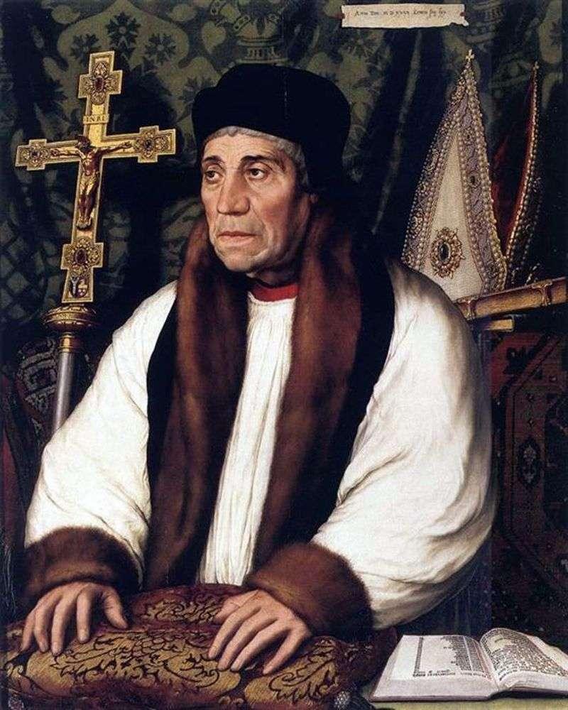 Portret Williama Warhama   Hansa Holbeina