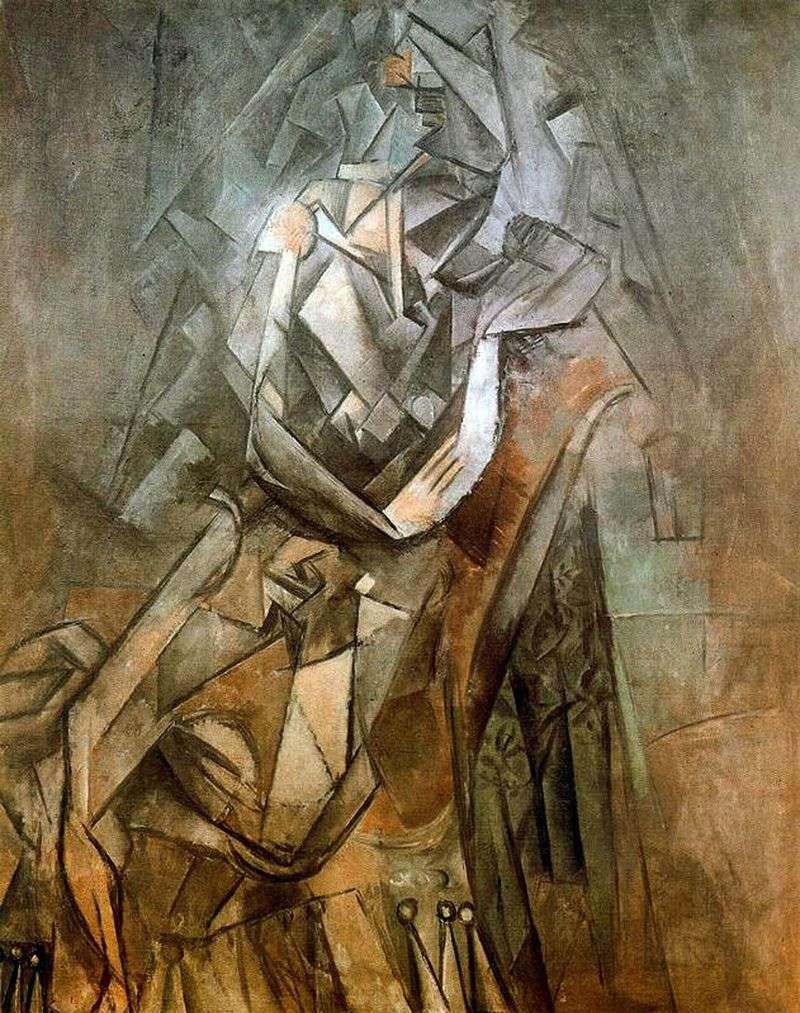 Kobieta siedzi na krześle   Pablo Picasso