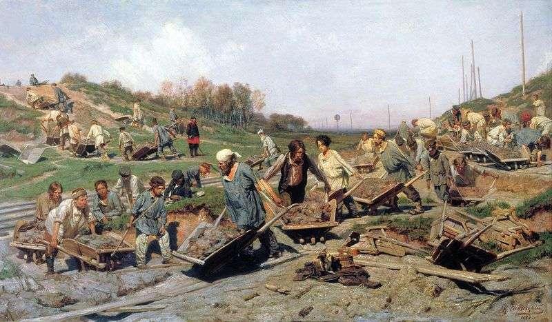 Prace naprawcze na kolei   Konstantin Savitsky