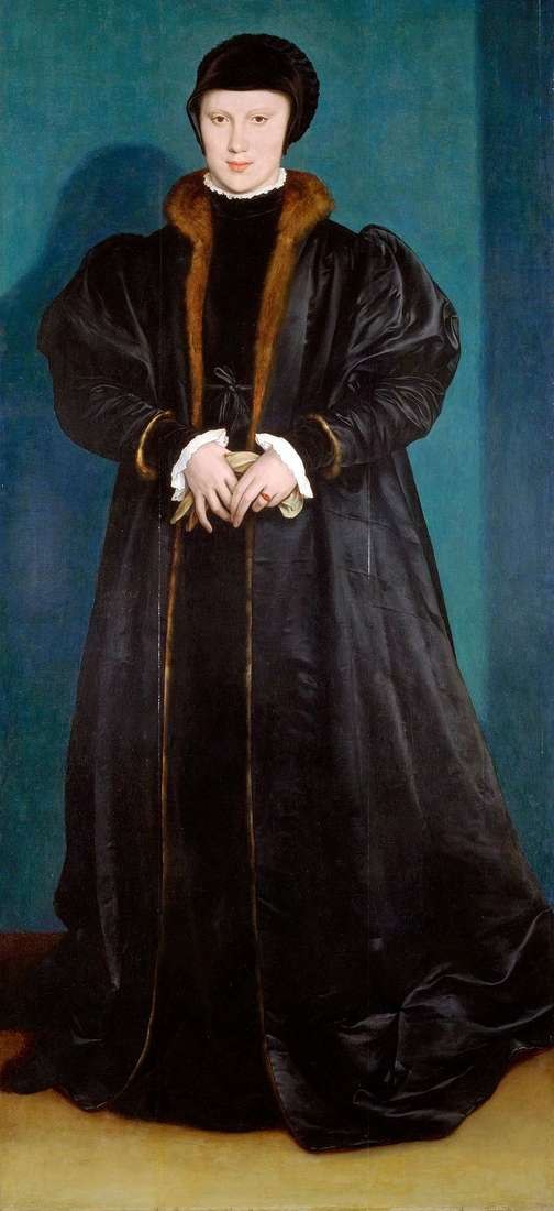 Portret Christiny Danii   Hansa Holbeina