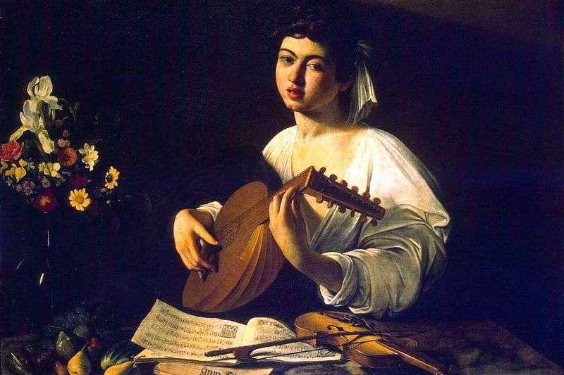 Młody człowiek z lutni   Michelangelo Merisi da Caravaggio