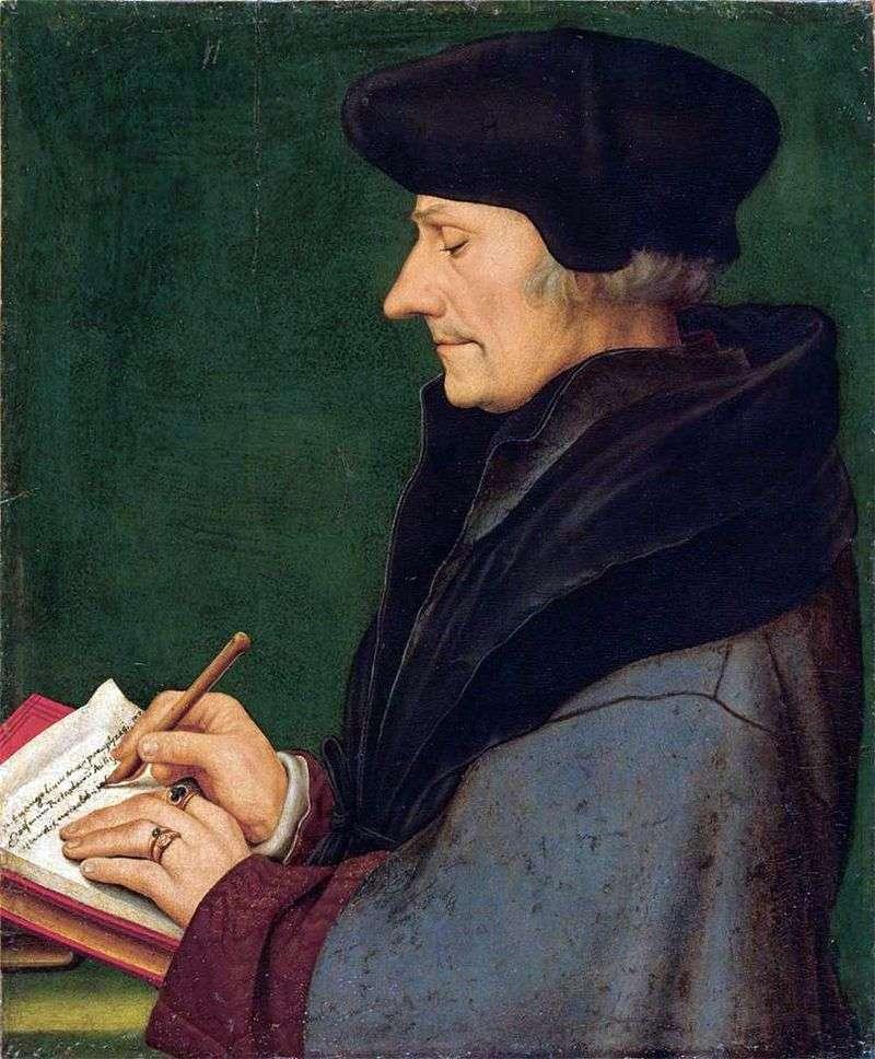 Portret Erazma z Rotterdamu   Hans Holbein