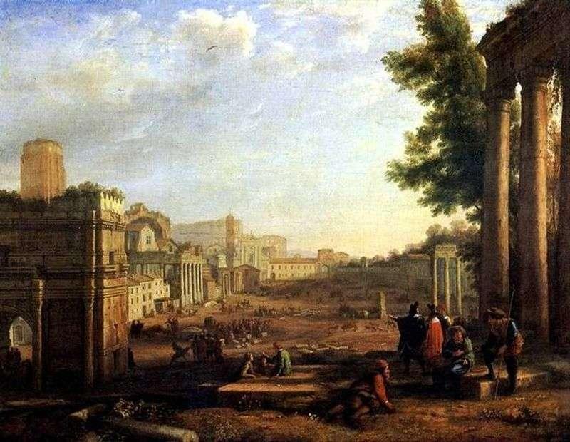 Widok Rzymu   Claude Lorrain
