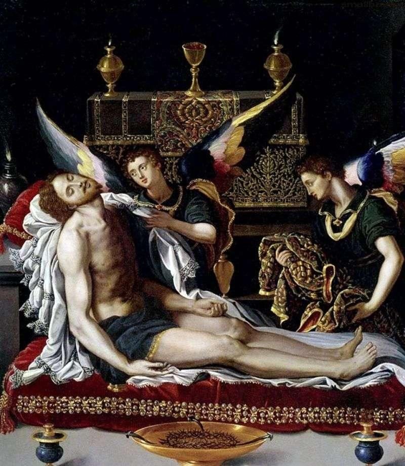 Dwóch aniołów w ciele Chrystusa   Alessandro Allori