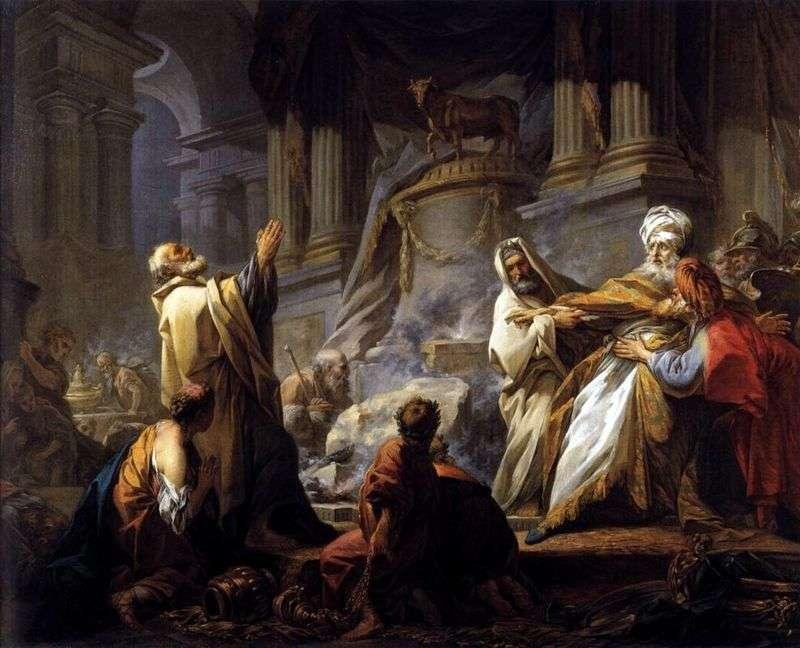 Jeroboam poświęca bożków   Jean Honore Fragonard