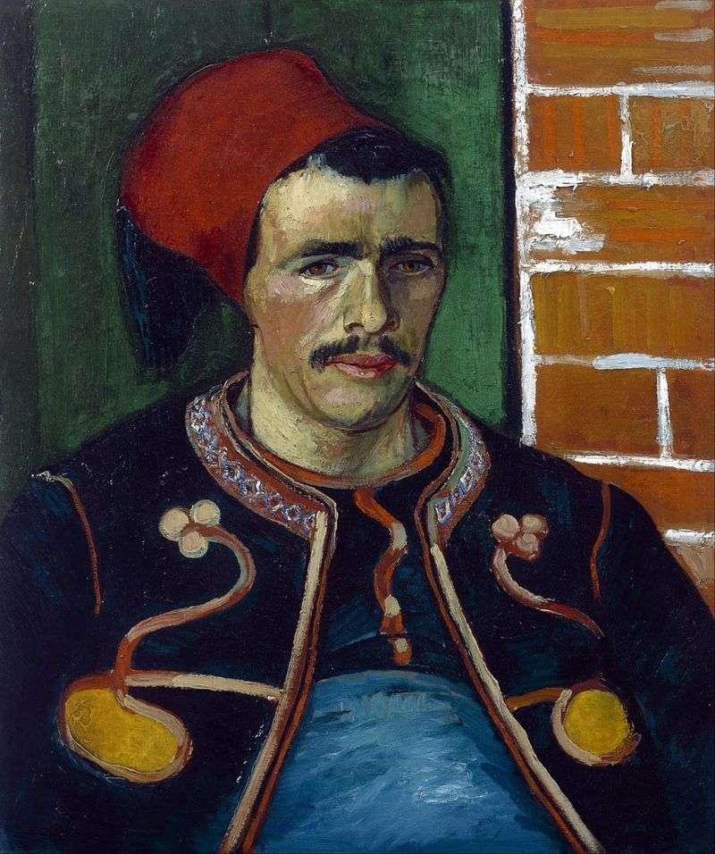 Zuav (Portret w połowie długości)   Vincent Van Gogh