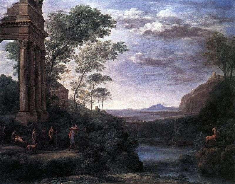 Krajobraz z Ascaniusem strzelającym do jelenia   Claude Lorrain