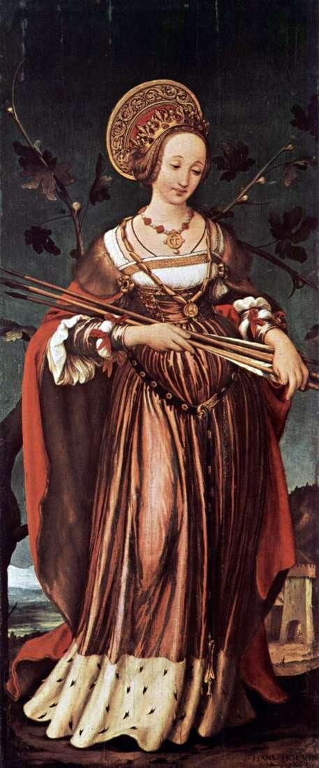 Święta Urszula   Hans Holbein