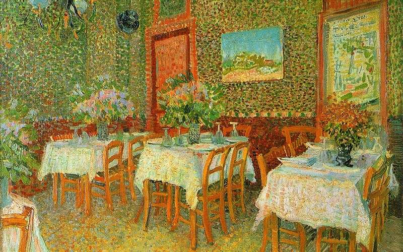 Wnętrze restauracji   Vincent Van Gogh