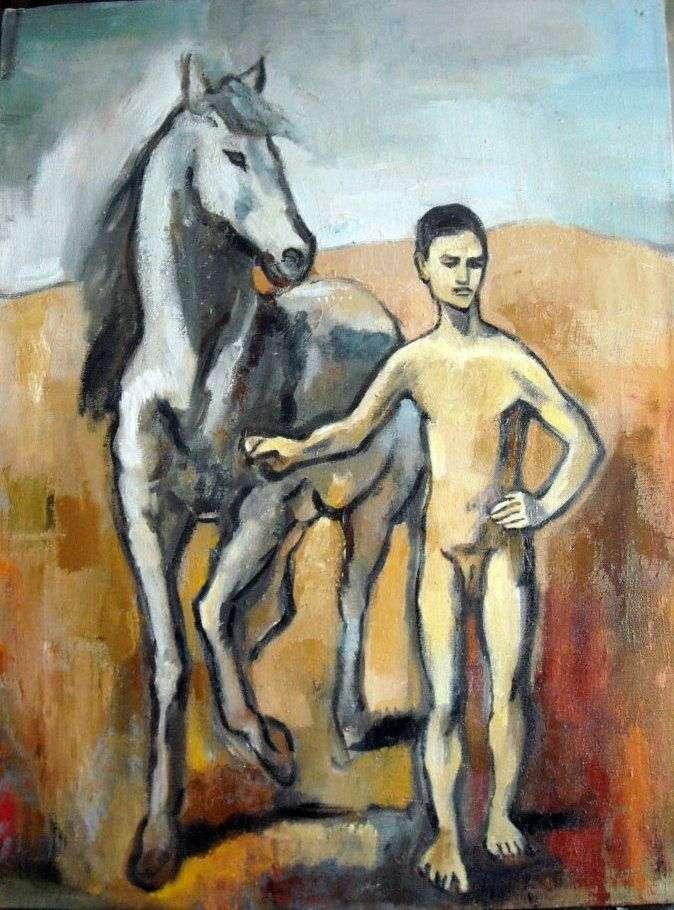 Chłopiec to koń wiodący   Pablo Picasso