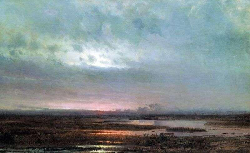 Zachód słońca nad bagnem   Aleksiej Sawrasow