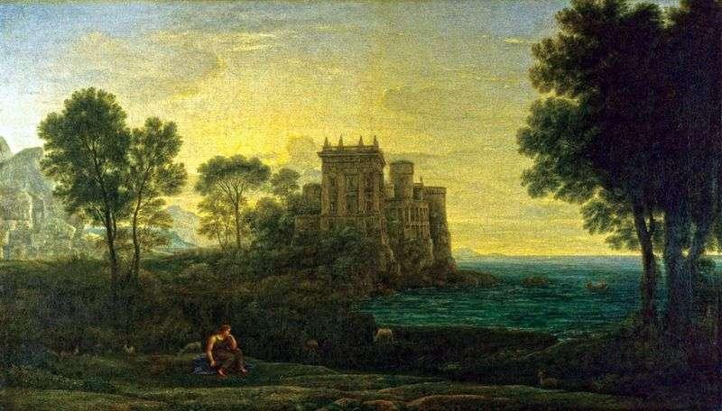 Krajobraz z Psyche na tle Pałacu Kupidyna   Claude Lorrain